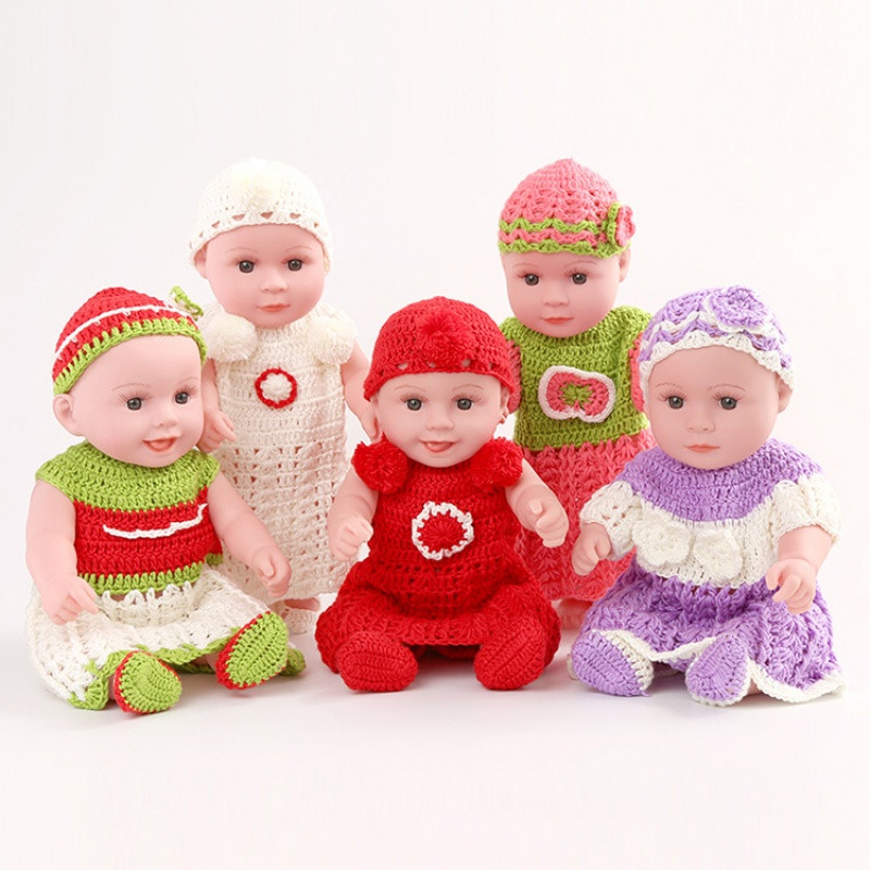 促销包邮秒杀仿真婴儿小娃娃洗澡洋娃娃全身软胶宝宝早教儿童玩具娃娃
