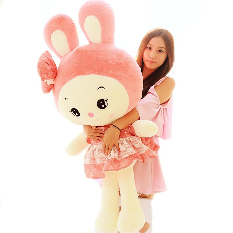 促销毛绒玩具兔子公仔抱枕粉色小白兔儿童玩偶大号布娃娃生日礼物女生