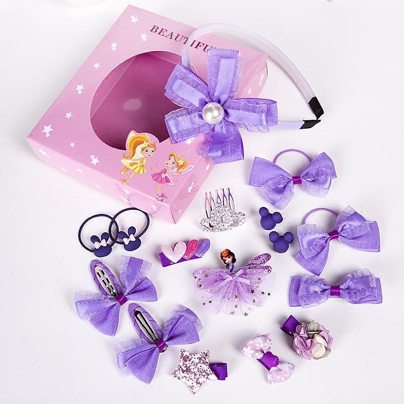 促销韩国儿童发夹套装公主女童皇冠头饰可爱宝宝发圈发箍发卡发饰礼盒