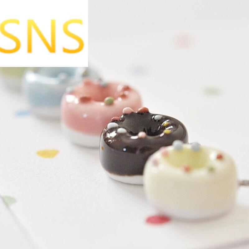 sns-甜甜圈甜美可爱项链女/学生陶瓷饰品日系韩版闺蜜