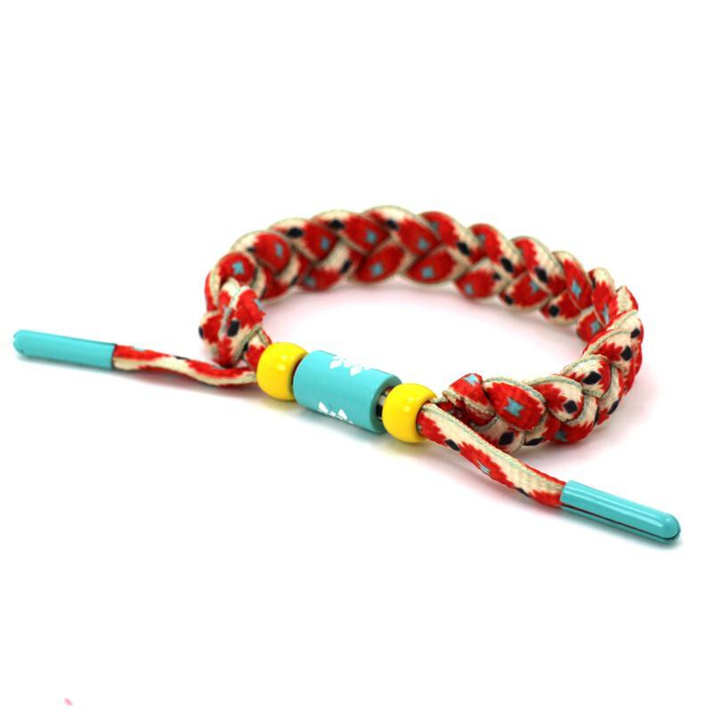 手链鞋带编织音乐节系列蓝红黑白学生小狮子手链