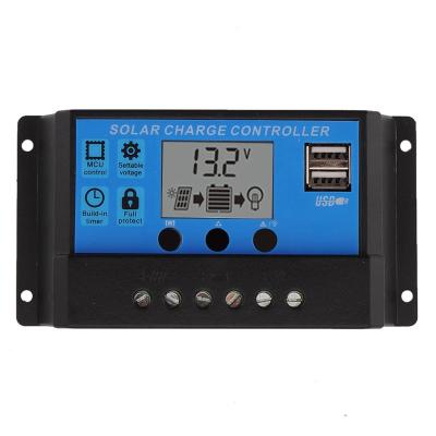 全新100W瓦單晶太陽能板太陽能電池板發電板光伏發電系統12V家用 12V/24V30A控制器