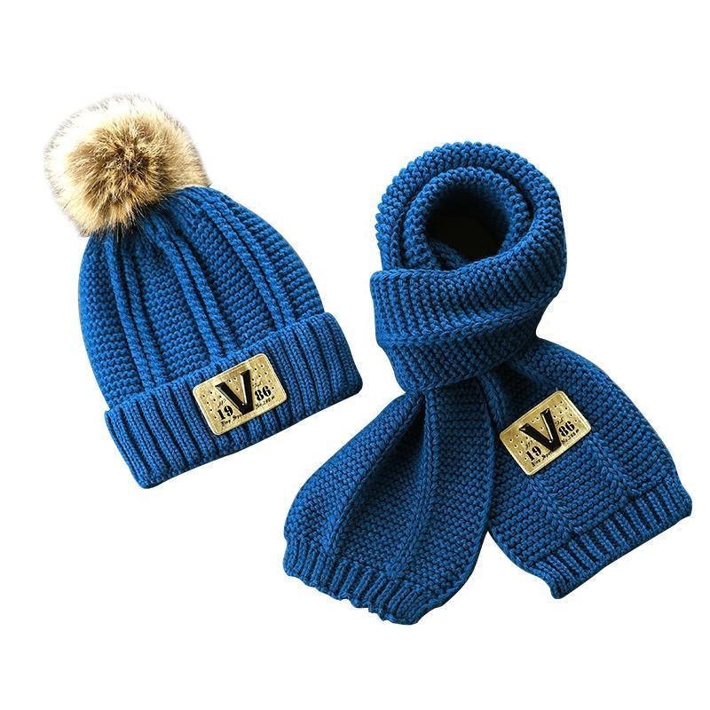2018儿童帽子秋冬季宝宝男童毛线帽2加绒6女童围巾套装4岁8冬天小孩潮