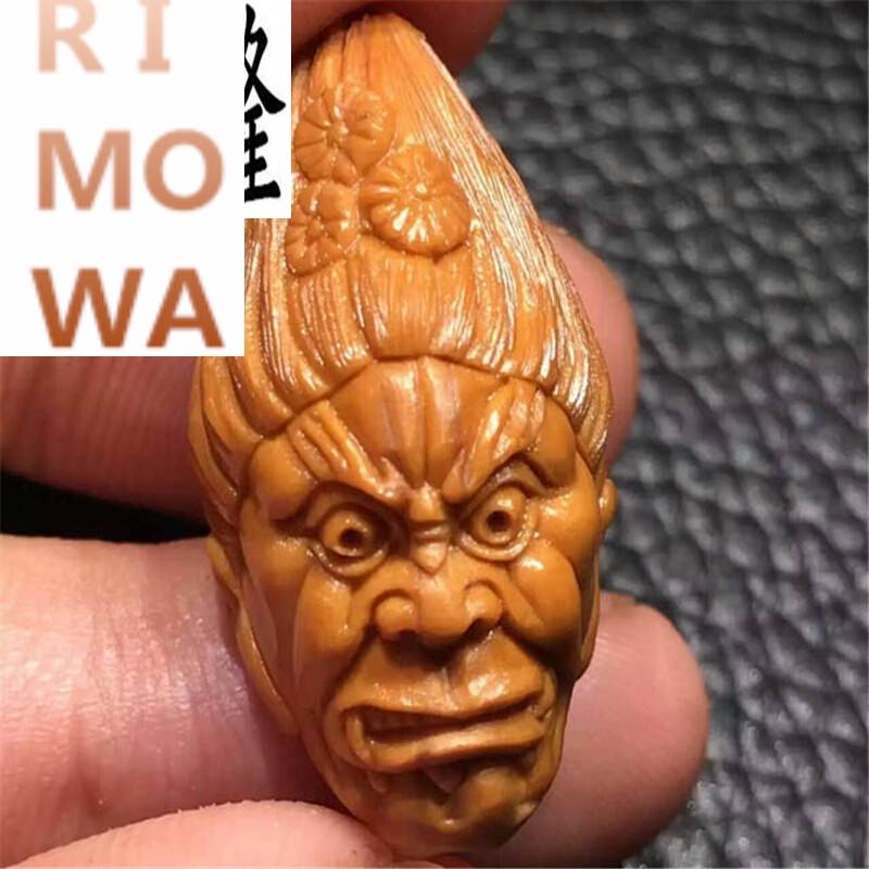 rimowarimowa橄榄核雕刻冥王手串 文丰鬼王手链 超值北工