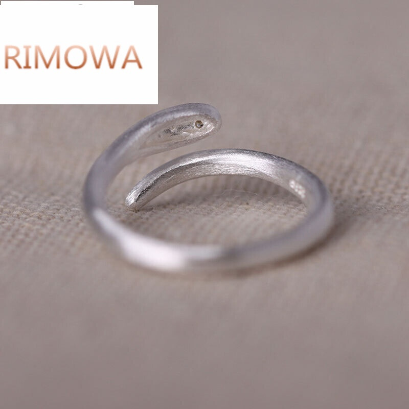 rimowarimowas925银男女款戒指简约个性蛇形小指指环送朋友礼物