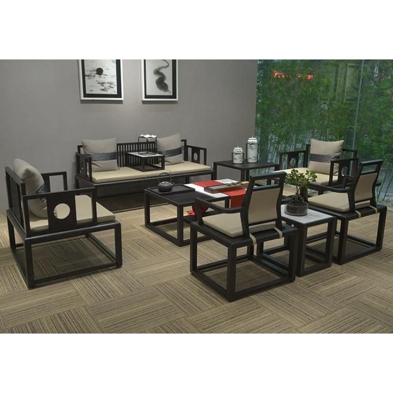 新中式办公家具实木老板桌椅组合简约现代总裁桌大班台经理主管桌