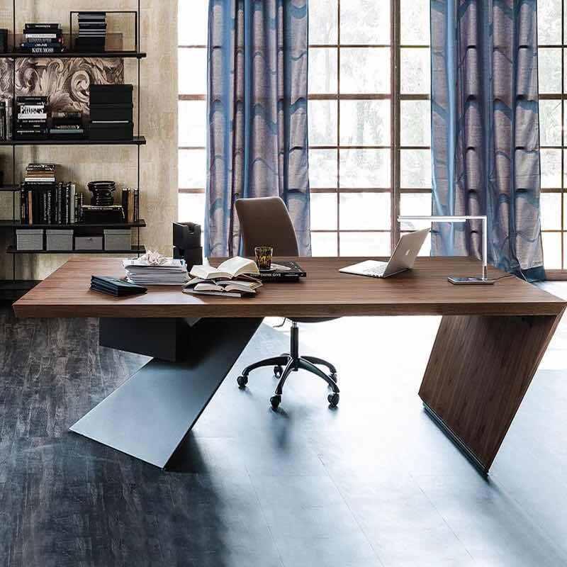 简约现代老板桌总裁桌时尚大气实木经理主管办公桌大班台办公家具图片