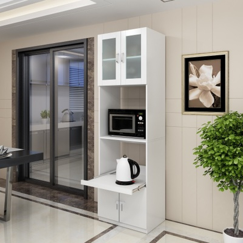 餐邊柜高柜 微波爐柜餐廳茶水柜儲物柜 現代簡約廚房碗柜組合櫥柜