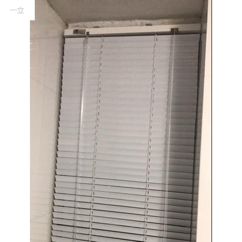 一立免钉百叶窗帘洗手间窗帘厨房厕所百叶窗卫生间窗帘浴室窗帘免打孔图片