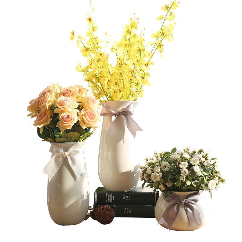 创意时尚客厅现代简约摆件 家居装饰品 跳舞兰玫瑰花桔梗花花艺图片