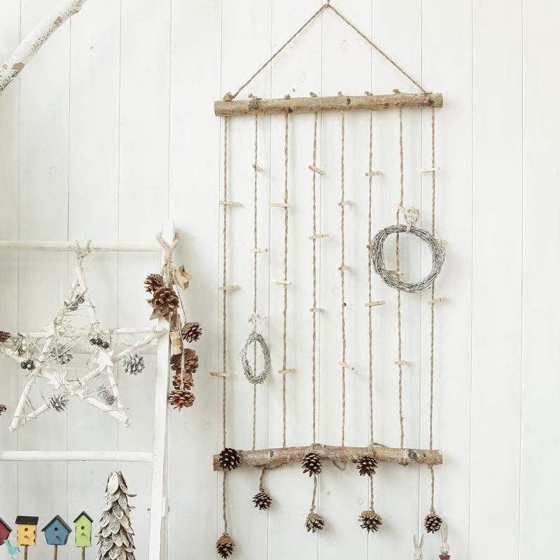 北欧复古原木树枝壁饰 家居店铺幼儿园咖啡服装店墙壁创意装饰品