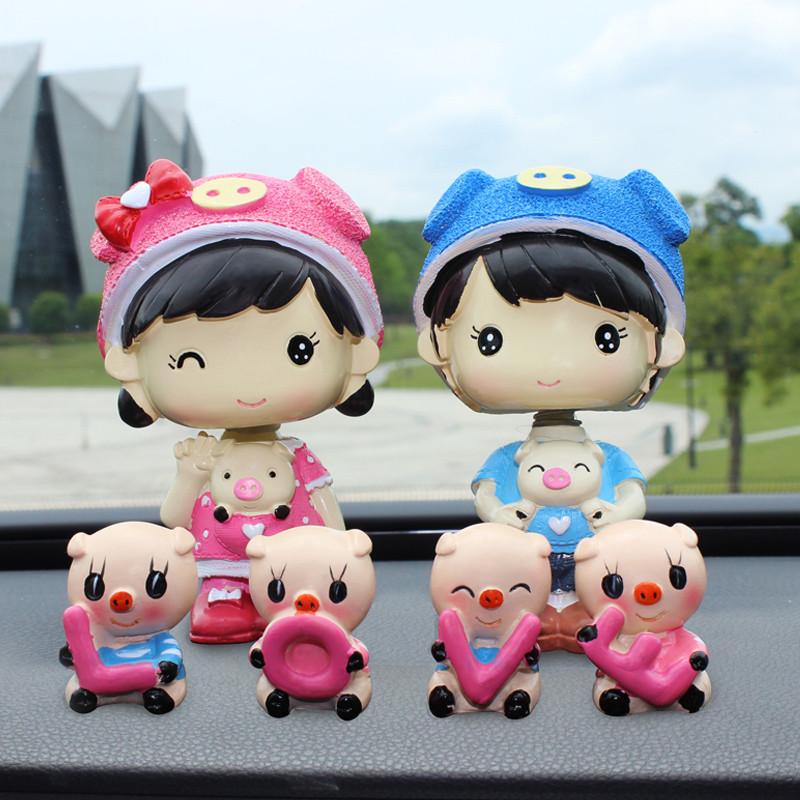 汽车摆件车饰车内饰品摆件太阳能摇头可爱卡通娃娃车上装饰品车载