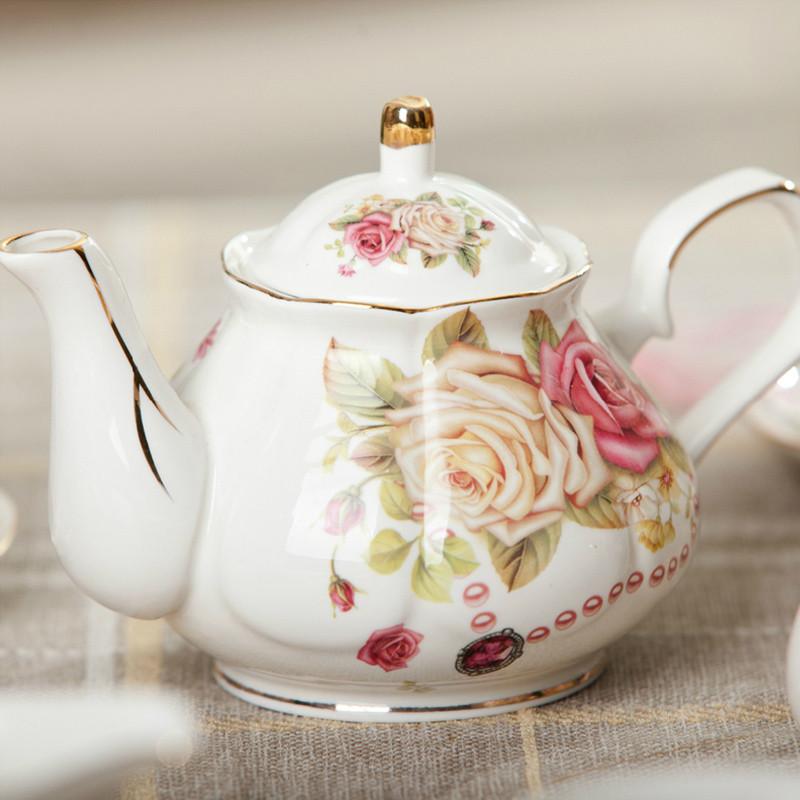 陶瓷咖啡壶茶具 搭配咖啡杯茶杯 欧式茶壶英式下午茶