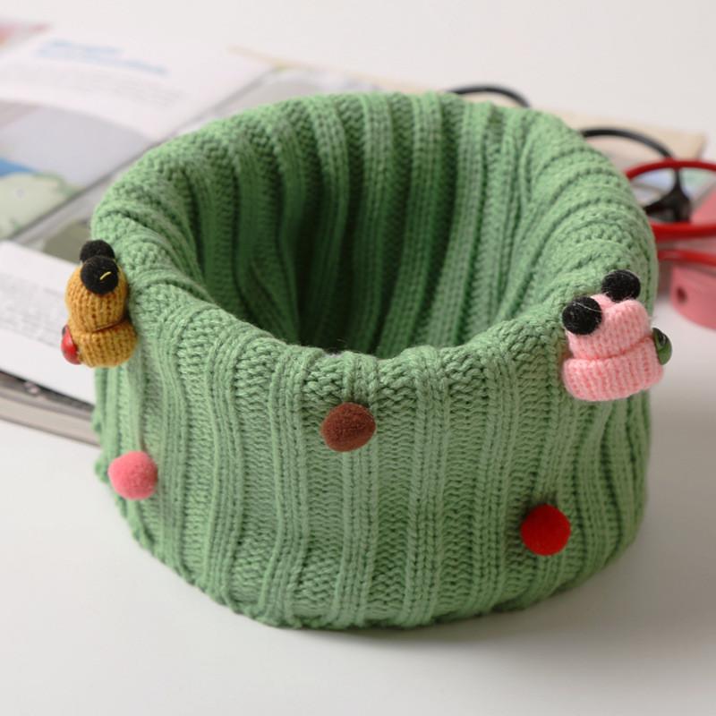 韩版儿童可爱卡通脖套韩国秋冬男女孩保暖围脖宝宝毛线套头潮
