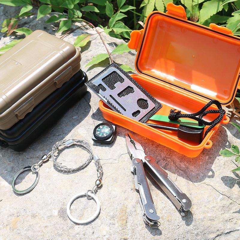 野外生存装备_野外生存装备包多功能荒野求生宝盒工具套装户外急救包应急包