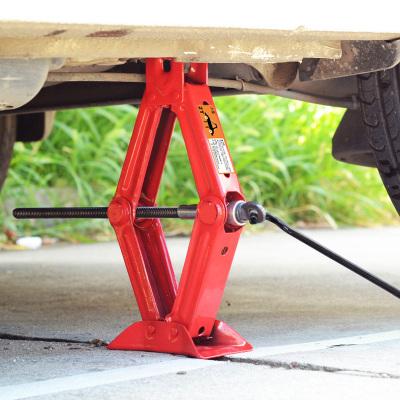汽車千斤頂手搖式小轎車用小車換胎專用工具阿斯卡利車載液壓搖桿臥式2噸ASCARI 紅色1噸