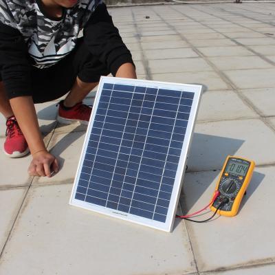 太陽能電池板18V20W30W單晶100W充12V電瓶汽車摩托車無支架 單晶6V6W 270*180*17