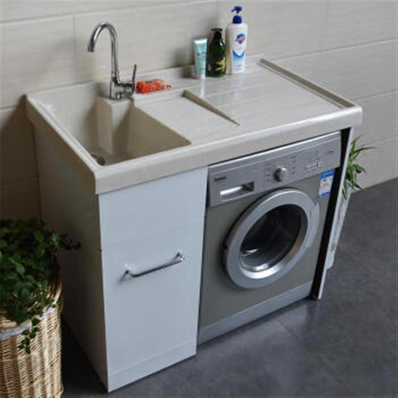 洗衣不锈钢浴室柜不锈钢洗衣机柜套餐面盆洗手间阳台洗脸盆置物架柜台