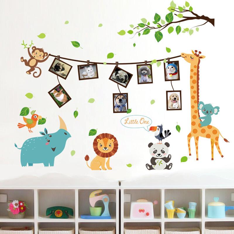 儿童房墙纸自粘卡通墙贴画宝宝测量身高贴纸幼儿园墙壁装饰可移除c.