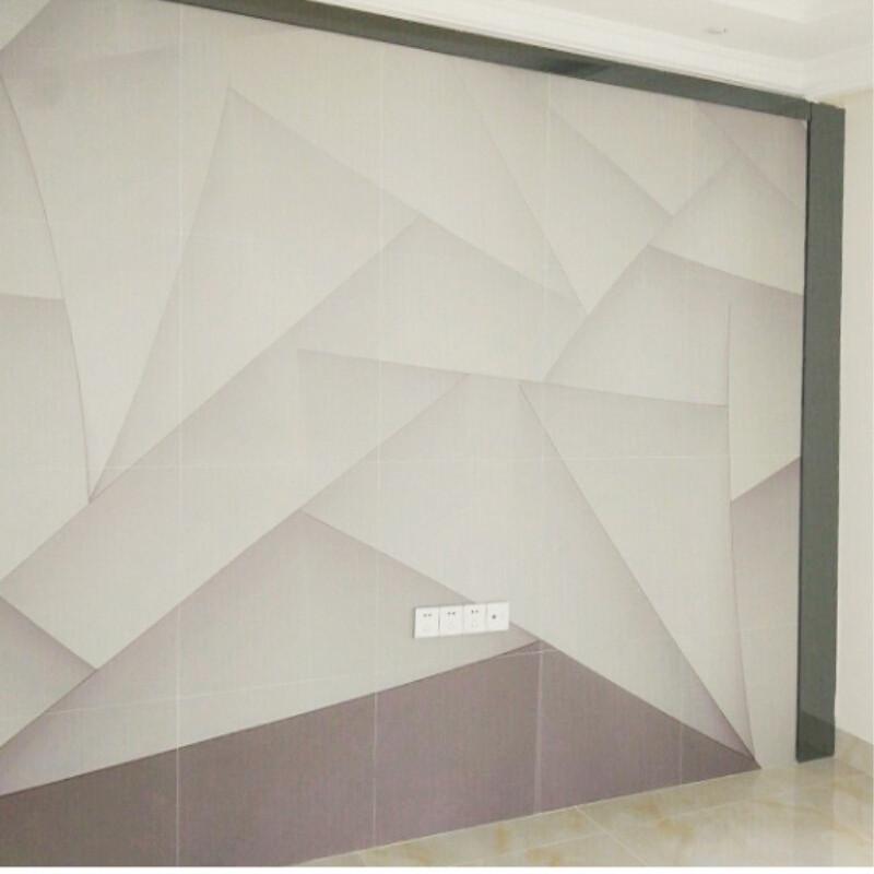 电视背景墙瓷砖微晶石现代简约客厅大理石欧式装饰画边框3d立体