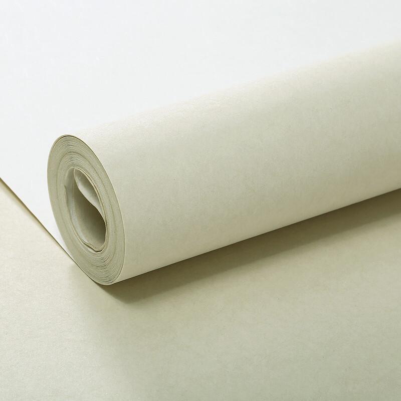 无纺布墙纸蚕丝素色壁纸客厅卧室纯色电视背景墙壁纸001米色仅墙纸