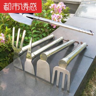 不锈钢锄头耙子钉耙十字镐两用锄农用工具园林园艺户外工具都市诱惑