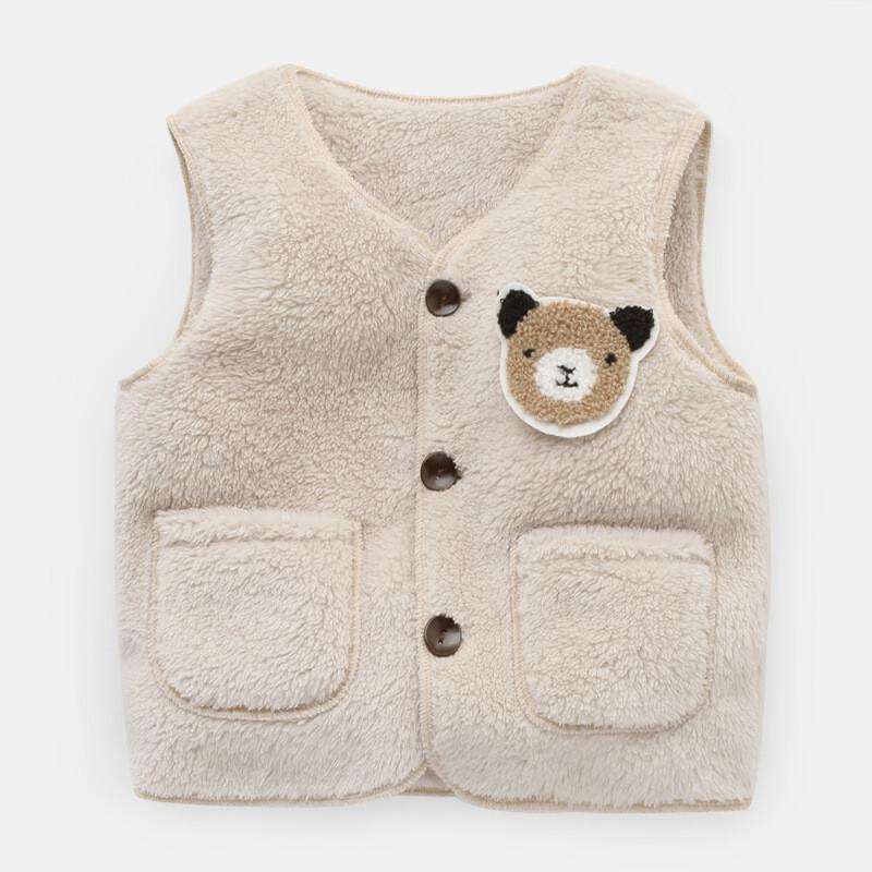 婴儿加绒马甲儿童春秋幼儿背心女宝宝男童外套秋冬款内穿冬季