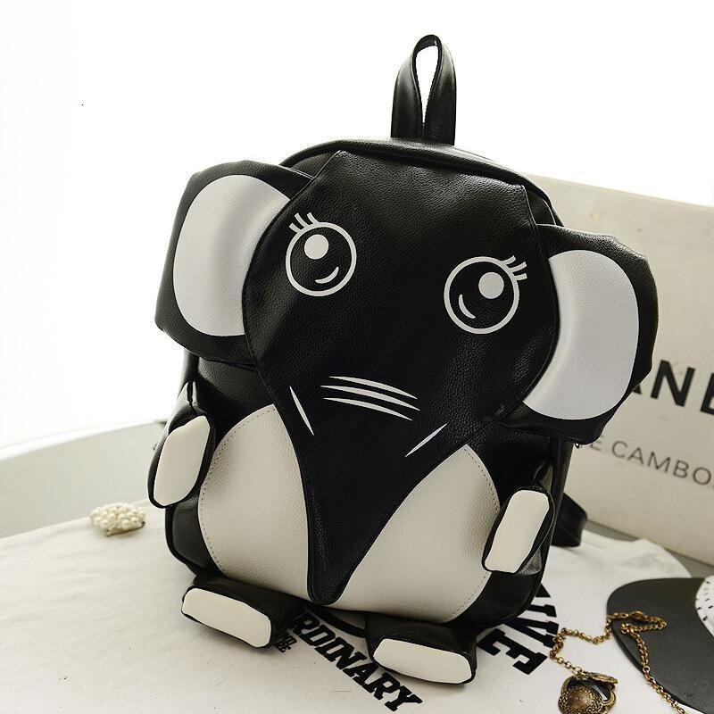 新款儿童双肩包时尚小学生休闲背包pu皮可爱卡通大象男女书包sn2443