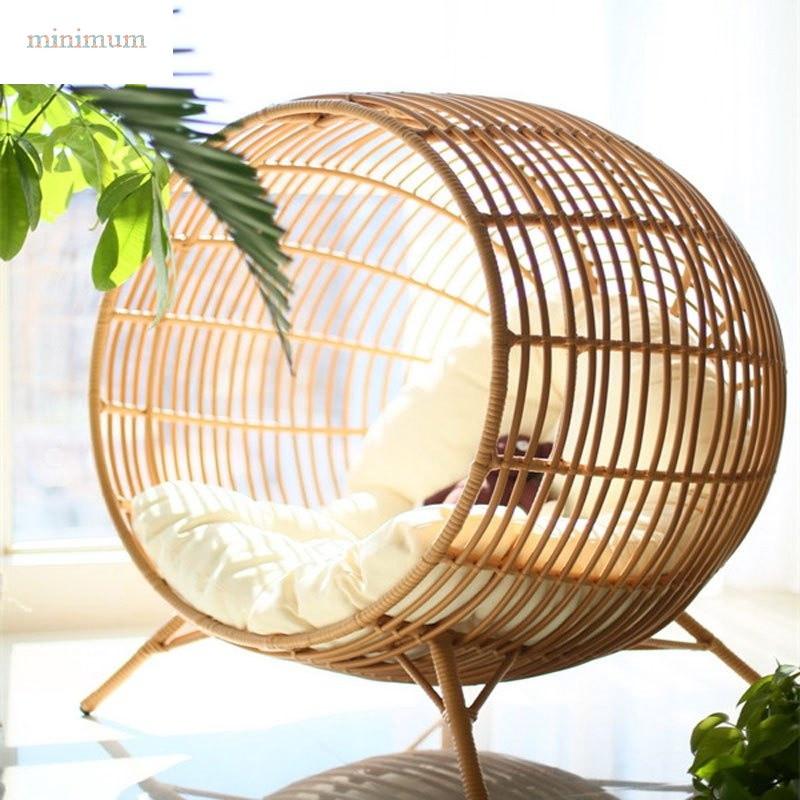 minimum 创意家具吊篮藤沙发吊椅 儿童秋千藤椅圆形室内阳台户外鸟巢图片