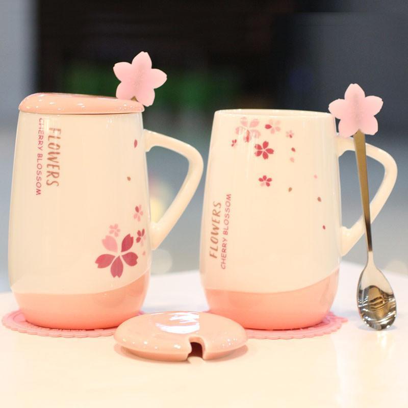 创意陶瓷卡通公主杯马克杯可爱带盖带勺喝水杯子办公室大容量水杯生活