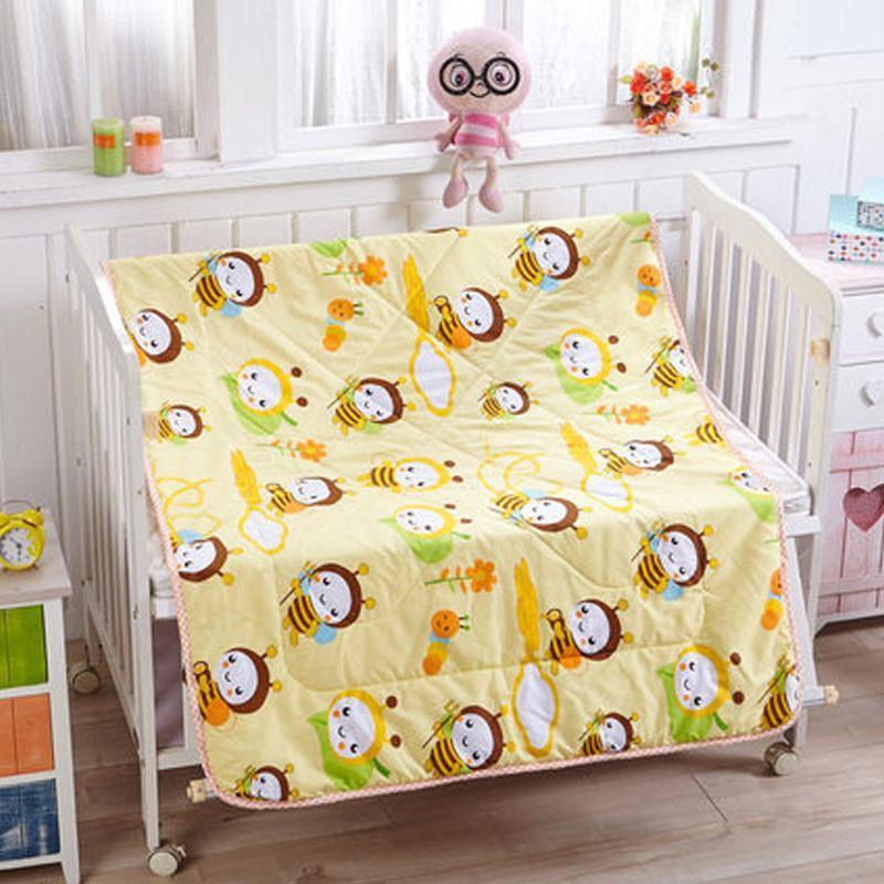 可爱卡通家居风格儿童夏凉被幼儿园婴儿小床空调被斜纹卡通宝宝盖被小