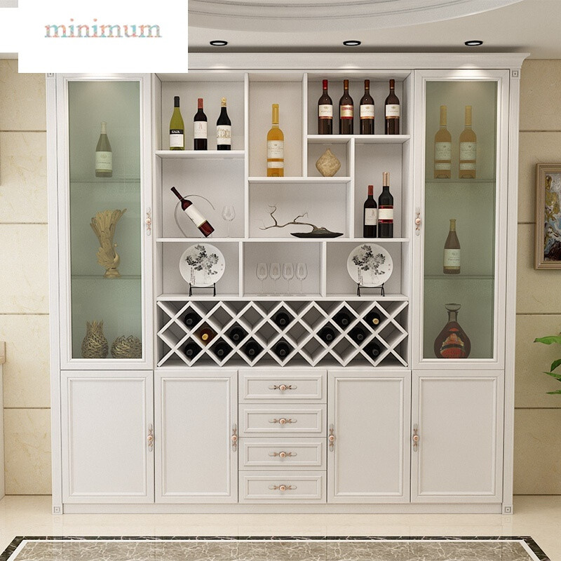餐边柜现代简约餐厅多功能酒柜白红柜子木质环保免漆