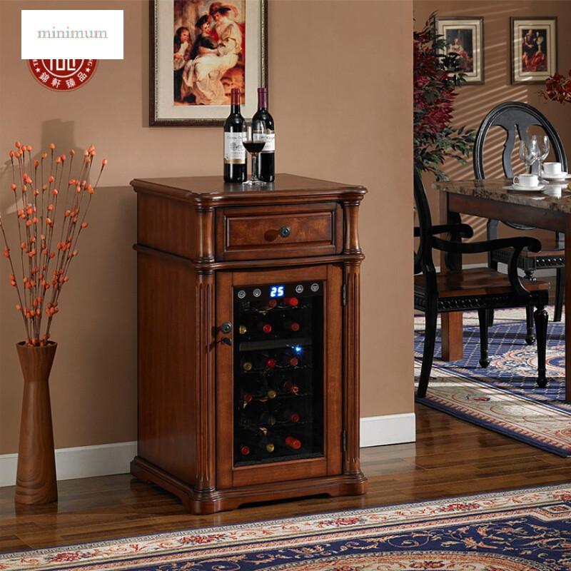 红酒柜恒温酒柜小型家用实木客厅茶叶红酒冰箱雪茄柜冷藏柜冰吧压缩机