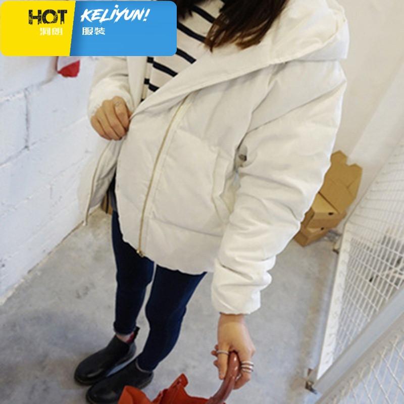 精品女装冬季羽绒棉服女学生韩版短款bf宽松大码加厚连帽小可爱面包服
