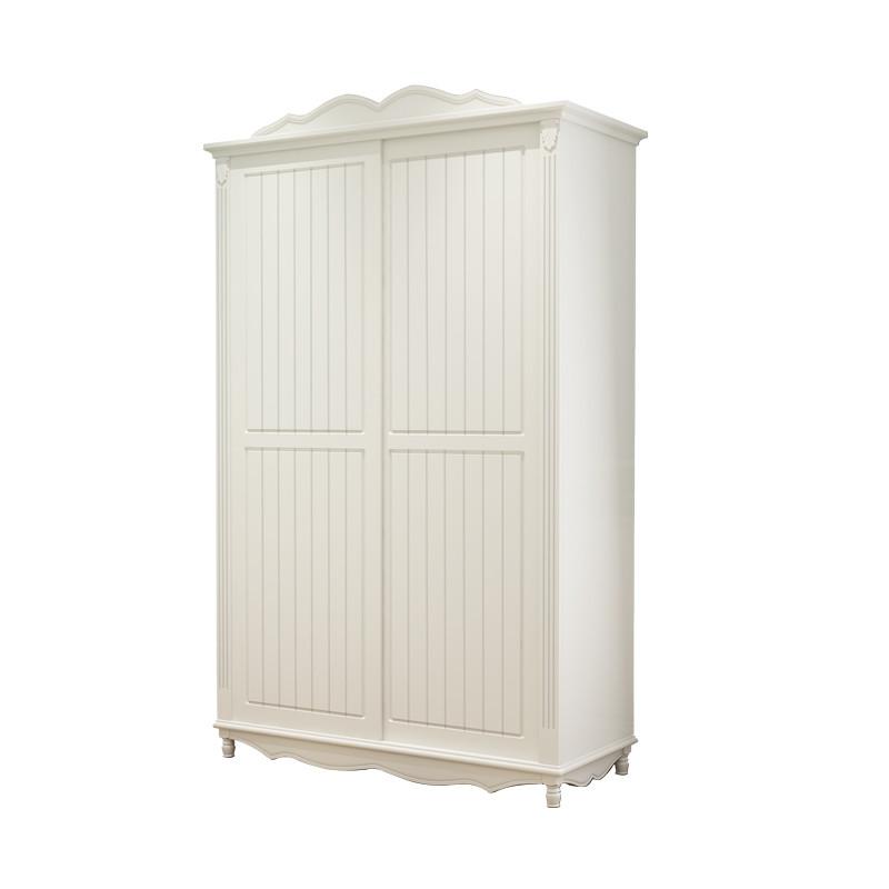 韩式主卧室衣柜推拉门实木趟门衣橱欧式简约现代经济型滑移门衣柜