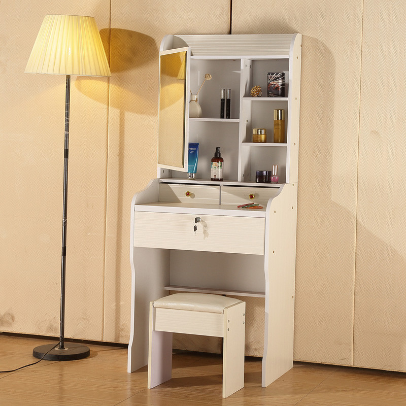 經濟型臥室梳妝臺 現代簡約化妝臺 50cm小戶型迷你多功能簡易收納