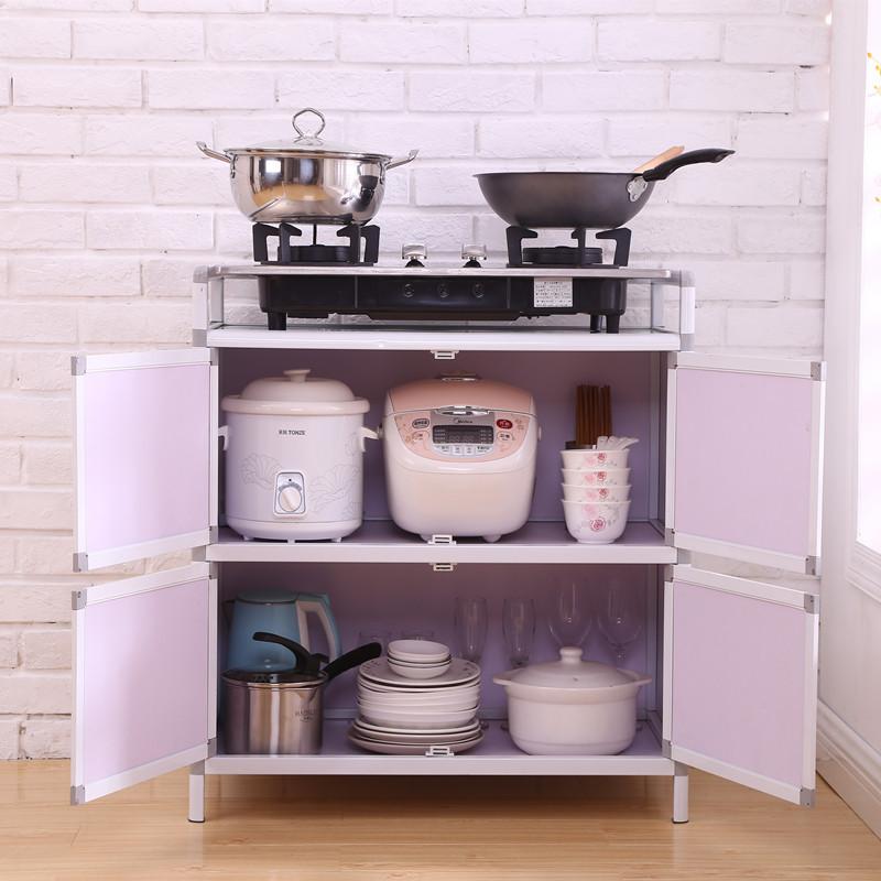簡易碗柜廚房柜子儲物柜餐邊柜茶水柜置物柜客廳收納柜不銹鋼櫥柜