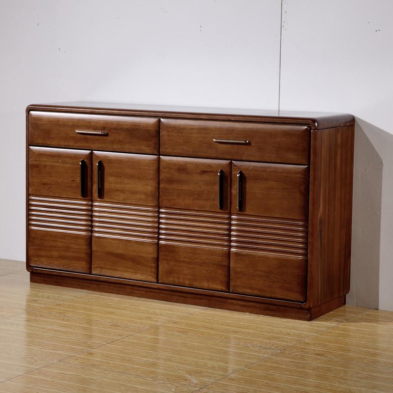 实木餐边柜储物柜茶水柜客厅新中式金丝檀木餐厅碗柜厨房收纳柜