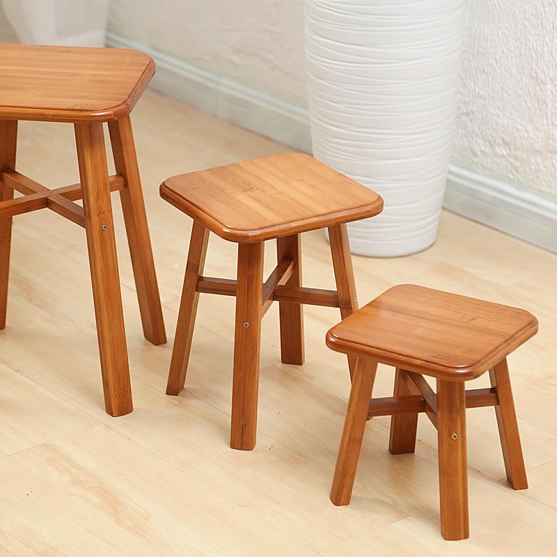 缴情成人小�_小凳子家用时尚儿童小板凳成人实木竹子小木凳创意坐凳方圆凳矮凳