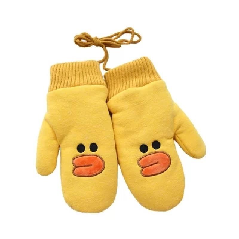 新款日系韩版棉儿童手套冬加绒男孩小学生卡通女孩中大童公主保暖可爱