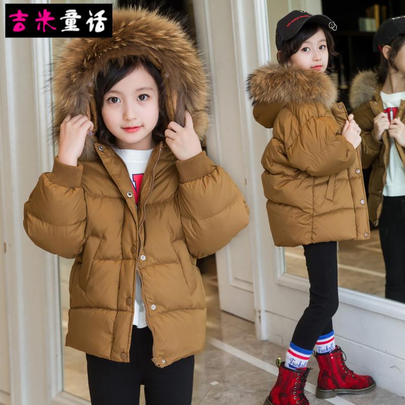女童棉衣外套冬装2017新款男儿童羽绒棉袄韩版面包服黑色洋气短款