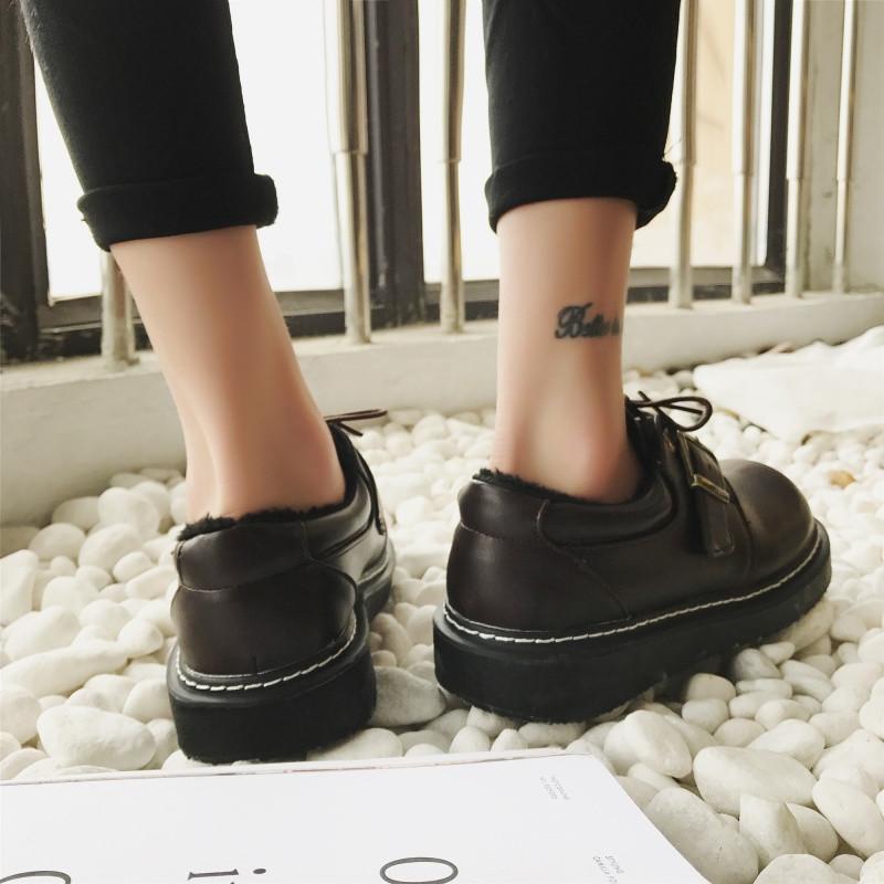 小皮鞋女学生韩版百搭原宿日系软妹可爱圆头复古松糕英伦厚底单鞋