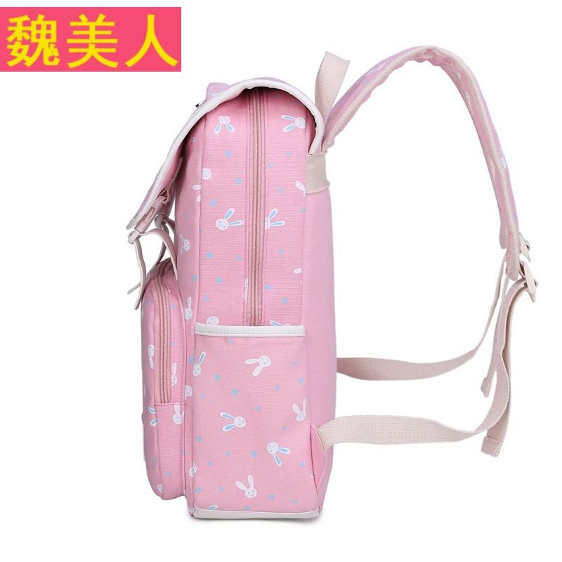 韩版校园初中生书包小学生双肩包女孩小清新可爱印花旅游背包