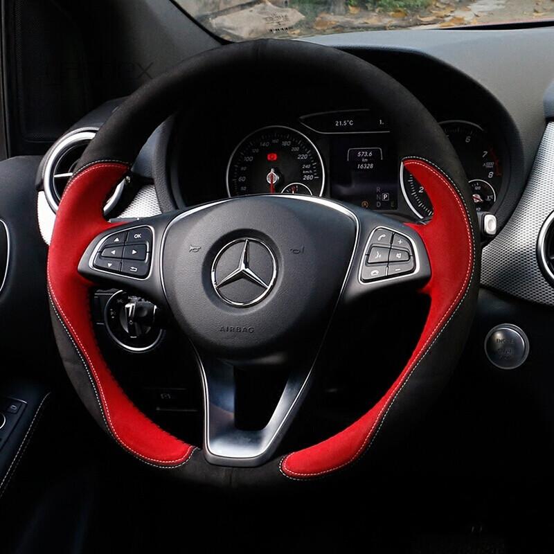 奔驰方向盘自拍_yandex 适用于奔驰方向盘套cls300r300s600b200c200e320e300手缝