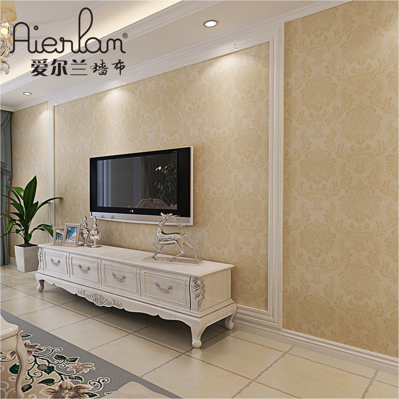 无缝墙布欧式大气简欧墙纸卧室电视背景墙客厅壁布厂家批发