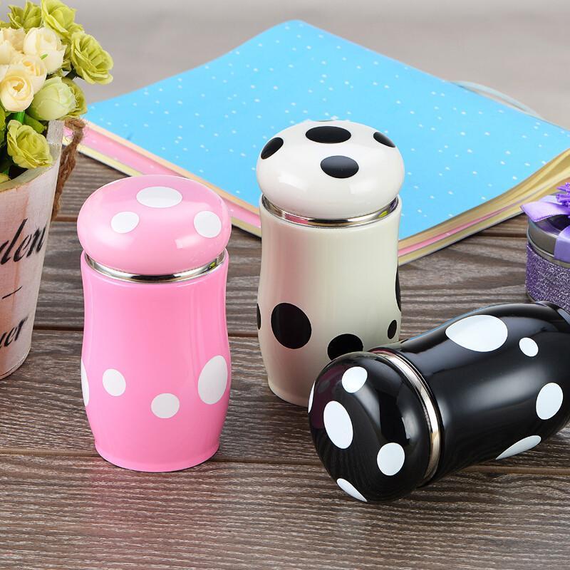 不锈钢蘑菇保温杯便携韩国可爱随手杯创意韩版迷你水杯女学生茶杯