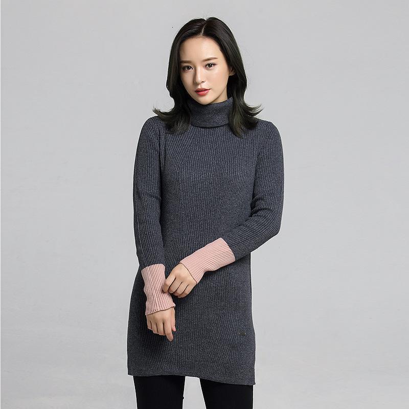 针织衫薄款女中长款秋冬新款韩版保暖高领修身毛衣打底衫