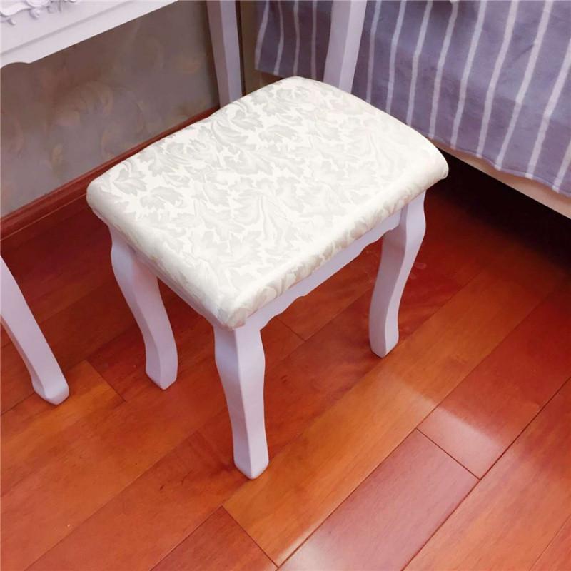 爵尼布艺韩式田园坐凳 简约时尚梳妆凳 化妆凳 凳子宜家 椅子欧式图片
