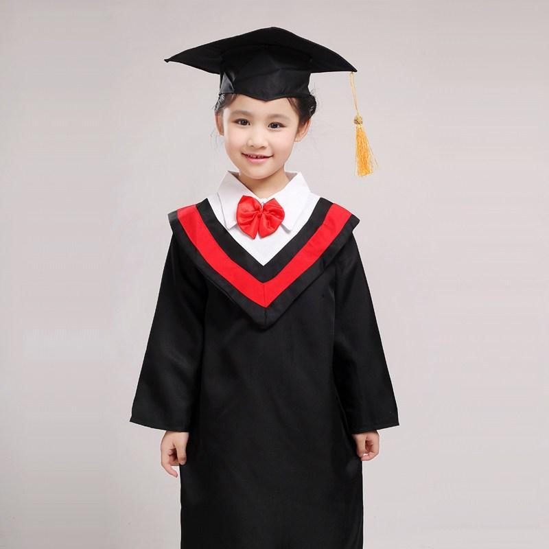 儿童博士服毕业礼服 幼儿园学士服装 中小学生毕业典礼演出服