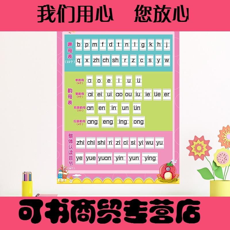 贴纸墙贴画幼儿园小学墙面装饰品学校班级布置汉语拼音字母表自粘